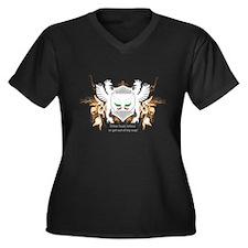 Unique Loyalty Women's Plus Size V-Neck Dark T-Shirt