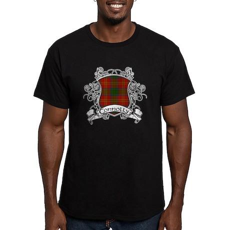 Connolly Tartan Shield Men's Fitted T-Shirt (dark)