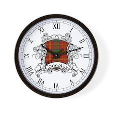 Connolly Tartan Shield Wall Clock