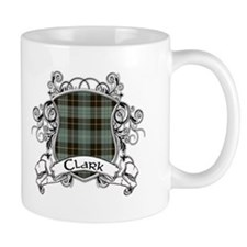 Clark Tartan Shield Small Mugs
