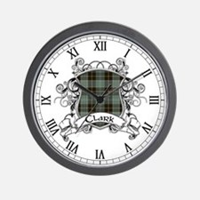 Clark Tartan Shield Wall Clock
