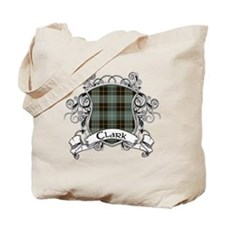 Clark Tartan Shield Tote Bag
