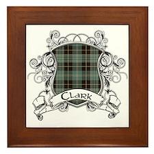 Clark Tartan Shield Framed Tile