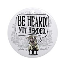 Be Heard Activist Protest Ornament (Round)