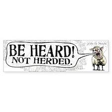 Be Heard Activist Protest Bumper Bumper Sticker