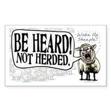 Be Heard Activist Protest Rectangle Decal