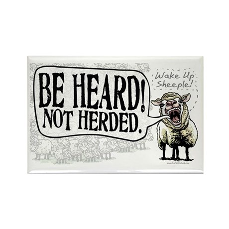 Be Heard Activist Protest Rectangle Magnet