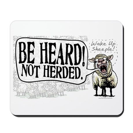 Be Heard Activist Protest Mousepad