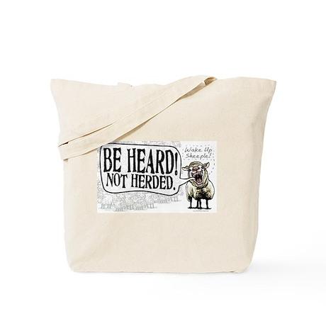 Be Heard Activist Protest Tote Bag