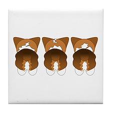 Tri Pembroke Tile Coaster