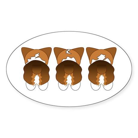 Tri Pembroke Oval Sticker