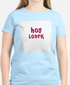 HOG LOVER Women's Pink T-Shirt