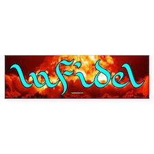 Infidel, stylized Bumper Bumper Sticker