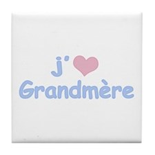 I Heart Grandmother French Tile Coaster