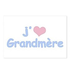 I Heart Grandmother French Postcards (Package of 8
