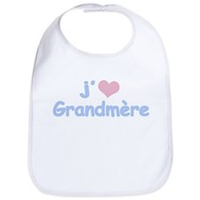 I Heart Grandmother French Bib