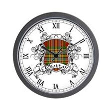 Chattan Tartan Shield Wall Clock