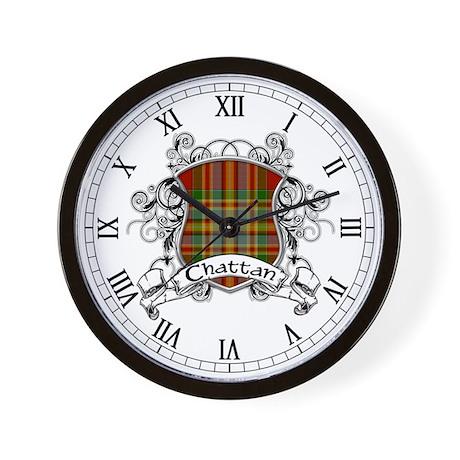 Chattan Tartan Shield Wall Clock
