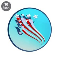 "Sweeping American Flag 3.5"" Button (10 pack)"