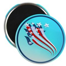 Sweeping American Flag Magnet