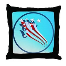 Sweeping American Flag Throw Pillow