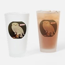 Drawing of an Owl Drinking Glass