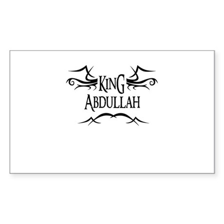King Abdullah Rectangle Sticker