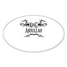 King Abdullah Oval Decal
