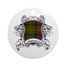 Carnegie Tartan Shield Ornament (Round)