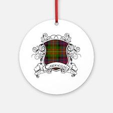 Carnegie Tartan Shield Ornament (Round)