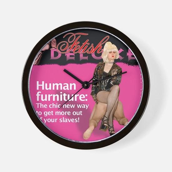 Human Furniture Wall Clock