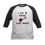 I am 3 today and I Rock! Gui Kids Baseball Jersey