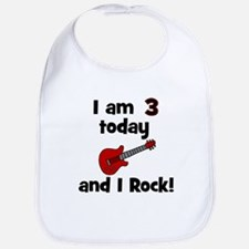 I am 3 today and I Rock! Gui Bib