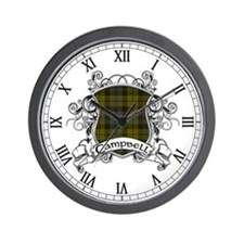 Campbell Tartan Shield Wall Clock