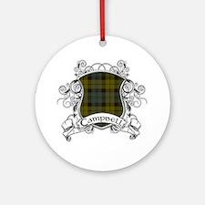 Campbell Tartan Shield Ornament (Round)