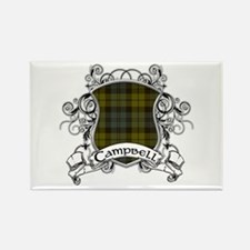 Campbell Tartan Shield Rectangle Magnet
