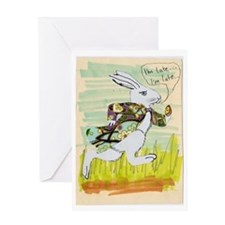 Late White Rabbit Card