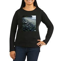 Water Color Rain Women's Long Sleeve Dark T-Shirt