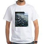 Water Color Rain White T-Shirt