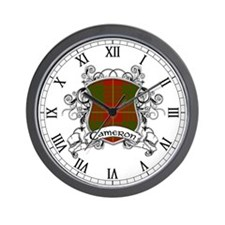 Cameron Tartan Shield Wall Clock