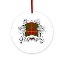 Cameron Tartan Shield Ornament (Round)