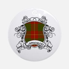 Cameron Tartan Shield Ornament (Round)