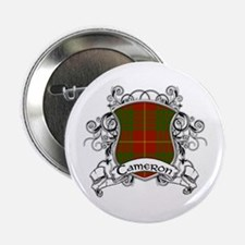 "Cameron Tartan Shield 2.25"" Button"