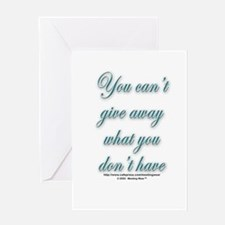 """Can't give away what you don Greeting Cards (Pack"