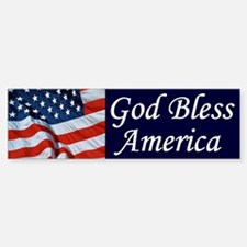 God Bless America Bumper Bumper Bumper Sticker