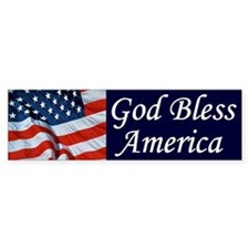 God Bless America Bumper Car Car Sticker
