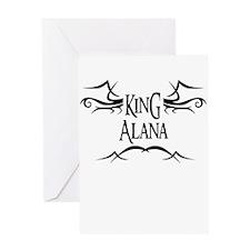King Alana Greeting Card
