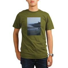 Lighthouse Dawn Organic Men's T-Shirt (dark)