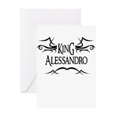 King Alessandro Greeting Card