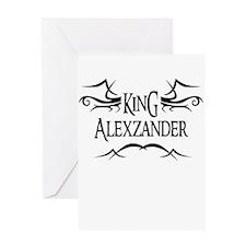 King Alexzander Greeting Card